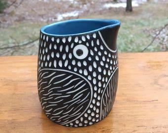Carved Modern Porcelain Bird Creamer pitcher