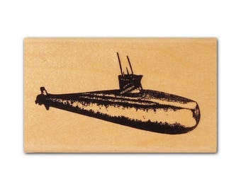 Submarine mounted silhouette, Navy sub, USN, naval warfare, military Crazy Mountain Stamps #4