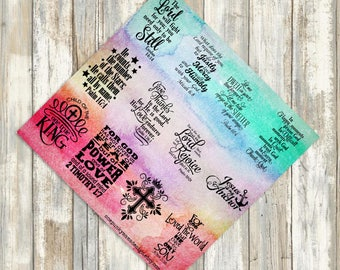Watercolor Planner Bible Verse Stickers (ID484)