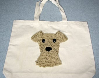 Airedale Canvas Tote - Dog Tote Bag- Pet Lovers Bag - Custom Tote Bag - Dog Lover Gift - Dog Moms Gift -