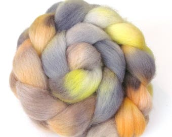 Hand Dyed Roving Combed Wool Top Whitefaced Woodland 100g WW32