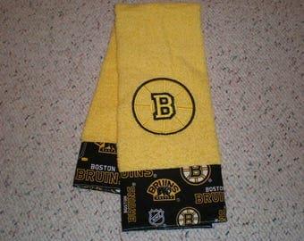 Boston Bruins Hockey Yellow Terry Hand Towel