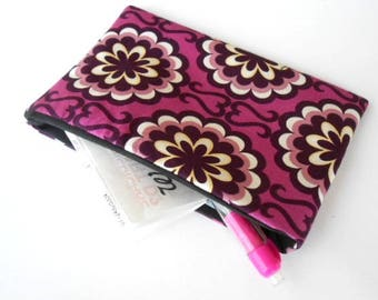 Catch All Clutch ECO Friendly Padded Pouch Purple Orchids NEW item