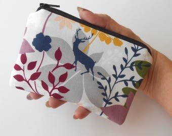 Zipper Pouch Little Padded Coin Purse ECO Friendly NEW Forest Glen