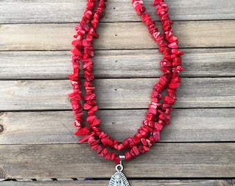 Red Coral Guadalupe Necklace