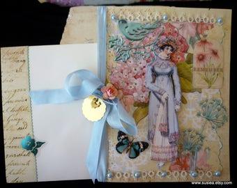 Regency Lady Blank Greeting Card
