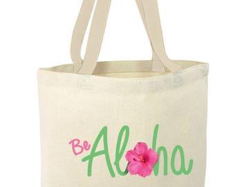 BE ALOHA Tote bag, reusable bag, tote, canvas bag, aloha, hawaii,free shipping