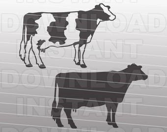 Holstein Dairy Cow SVG File,Cow svg,Livestock SVG-Vector Clip Art for Commercial & Personal Use-Cricut,Cameo,Sizzix,Pazzles,Silhouette,Vinyl