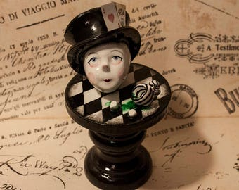 Mad Hatter gothic sculpture ~ ooak hand-sculpted