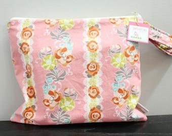 Wet Bag wetbag Diaper Bag ICKY Bag wet proof coral flower gym bag swim cloth diaper accessories zipper gift newborn baby kids beach bag