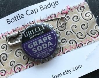 Vintage Grilli Beverages Grape Soda Bottle Cap Badge
