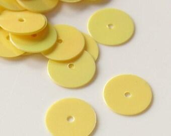 Summer Sale Gutermann Premium 8mm Flat Round Sequins - Yellow10grams - 1345