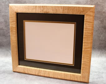 Diploma Frame, Stunning Solid Tiger Maple, A Unique Graduation Gift