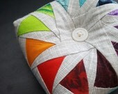 Circle of Geese Pincushion - Pin Cushion - Rainbow Geese, Patchwork, Sewing, Quilting, Sewing Notion, Sewing Gift,