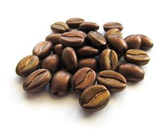 Matte Metallic Bronze Czech Glass Coffee Bean Beads, 11mm x 8mm - 30 pieces