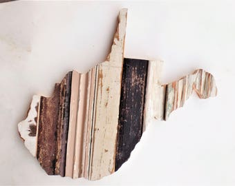 West Virginia Art, State Outline, Wooden State, Mountaineer Decor West Virginia Decor Reclaimed Wood State, Morgantown Decor, Wood Wall Art
