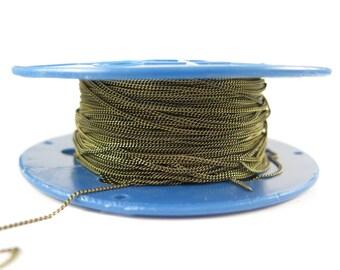 Dainty Antiqued Brass Curb Chain (4 feet)  (C923-E)