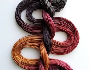 """Size 10 """"Knitty Gritty"""" hand dyed thread 6 cord cordonnet tatting crochet cotton"""