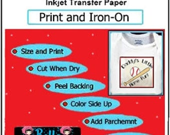 Tranz-Fuze Image Tranfer Sheets, 5 Pack, Commercial Grade Quality, Inkjet Transfers, Cut on Cricut or Silhouette, use a Home Iron to Press