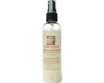 Black Amber and Lavender Room and Linen Spray - Air Freshener - Phthalate and Paraben Free - Car Spray - Bathroom Deodorizer