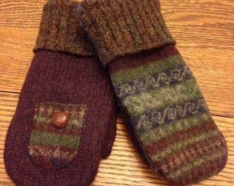 Recycled Mittens Made from Sweaters PATTERN!