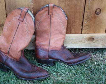 VINTAGE genuine ELK mens cowboy boots size 11 1/2