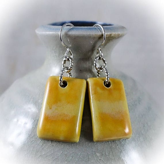 Rothko Inspired - Art Tile Earrings 9