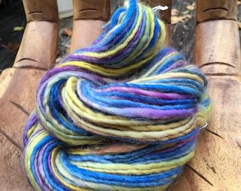 Handspun Art Yarn- Frosted Sunset- Signature SmoothSpun Artisan Yarn