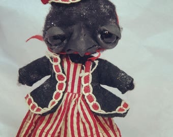 Christy the crow  original one of a kind art doll