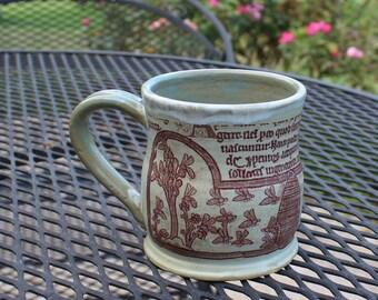 Medieval Beekeeper Mug - Green