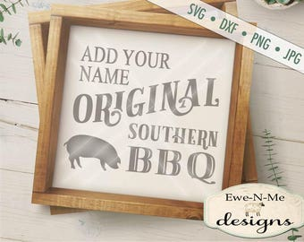 Southern BBQ svg - Cookout  svg - Pig BBQ svg - Commercial Use SVG -  svg, dxf, png and jpg files available