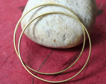 Extra large solid brass O ring 55mm outer diameter, 3mm wide, 1mm thick, 2 pcs (item ID BBRB55-D)