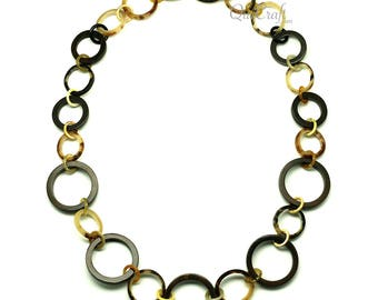Ebony & Horn Chain Necklace - Q12811