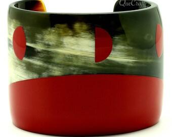 Horn & Lacquer Cuff Bracelet - Q12874-R