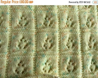 SUMMER SALE Hand Knitted Baby Shawl