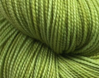 Hand dyed yarn - Lettuce   -  Fingering Weight