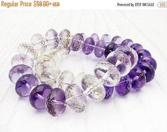 ametrine bracelet, amethyst bracelet, quartz bracelet, sterling silver, purple quartz, stacking bracelet, February birthstone, citrine