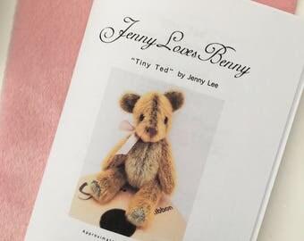 Tiny Ted artist bear pattern and kit by Jenny Lee of jennylovesbenny bears