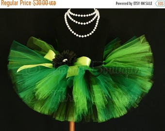 "SUMMER SALE 20% OFF St. Patrick's Day Tutu - Green Black Tutu - Rockin' Shamrock -  Custom Sewn 8"" Tutu - sizes newborn up to 5T - St. Patri"