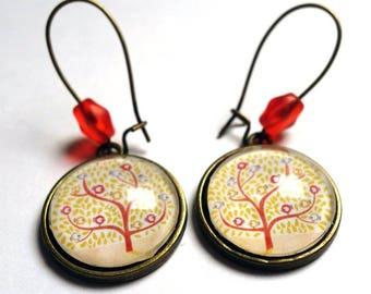 The birds BO200 tree earrings
