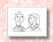 Custom ink portrait illustration - Mother's Day Special