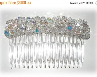 15% OFF Swarovski Crystal 4 Inch Hair Comb