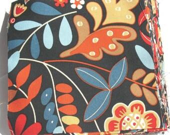 Scandinavia - IKEA Tigeroga Cotton Fabric Quilting Charm Squares