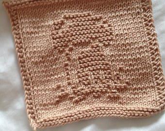 PATTERN - dishcloth / washcloth knitting pattern - mushroom