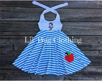 Snow White Dress, Snow White Costume, Disney Princess Girl Dress, Snow White Birthday Dress