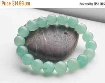ON-SALE Green Aventurine Bracelet - Chakra Bracelet, Yoga Bracelet, Gemstone, Semi Preciuos Stone Bracelet, Healing Bracelet
