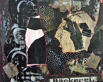 8 x 8 Mixed Media Collage on Matte Board