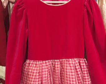Hot Pink Velvet Dress Girls 8