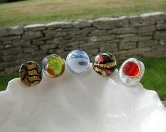 5 Murano Focal  Glass Beads