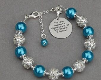 Grandma Grandchildren Gift, New Grandma, Grandma Jewelry, Grandma Present, Grandmother Bracelet, Grandmother Gift, Gran Bracelet